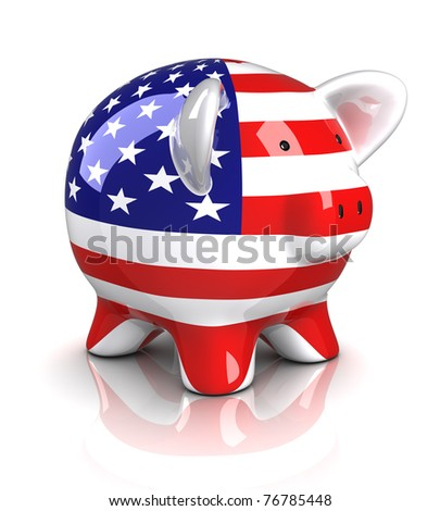 Piggy Bank - USA (Isolated)
