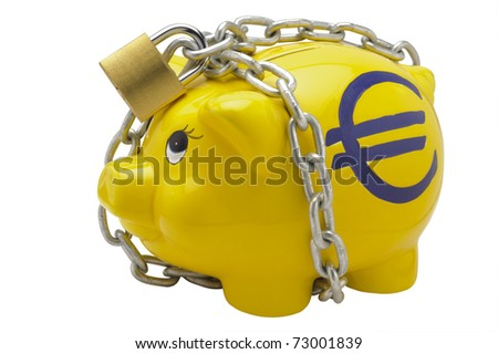piggy bank with euro sign - stock photo
