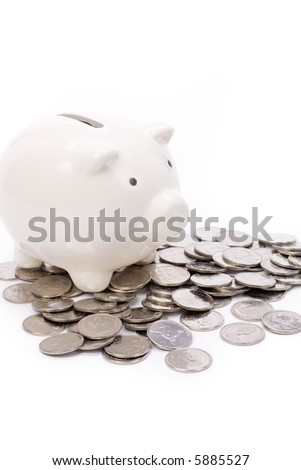 Piggy Bank with white background