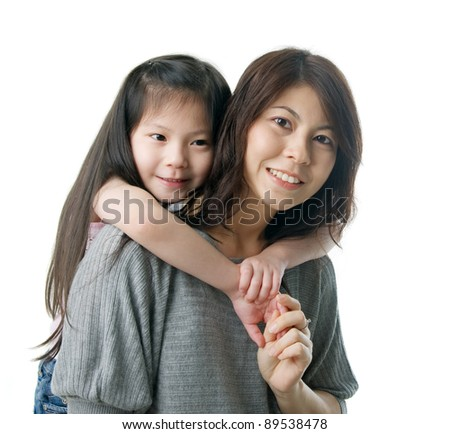 piggyback - stock photo