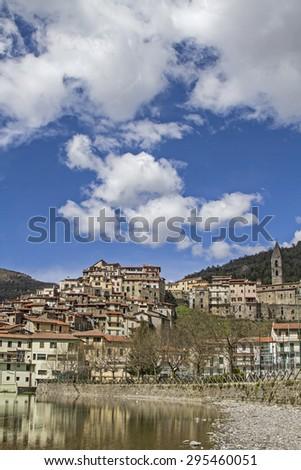 Pigna - popular destination in the Ligurian Apennines - stock photo