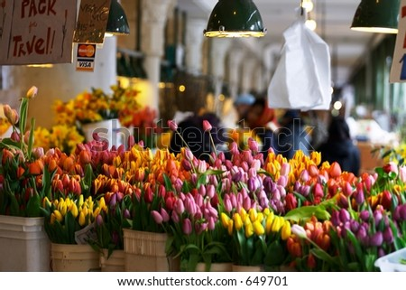 Pike Place Flowers - stock photo