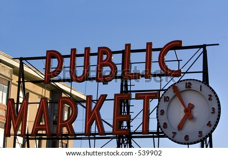 Pike Place Market in Seattle - stock photo