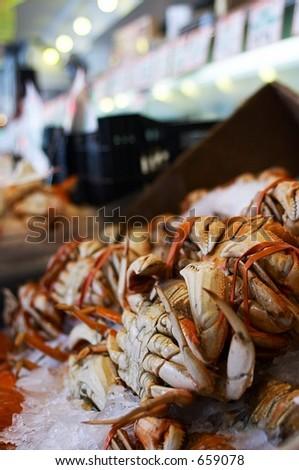 Pike Place Market Seafood, Seattle, Washington - stock photo