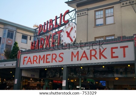 Pike Place Market, Seattle, Washington - stock photo