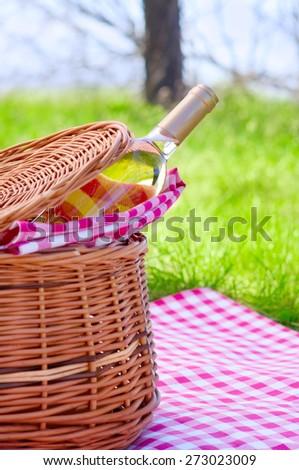 Piknik basket - stock photo