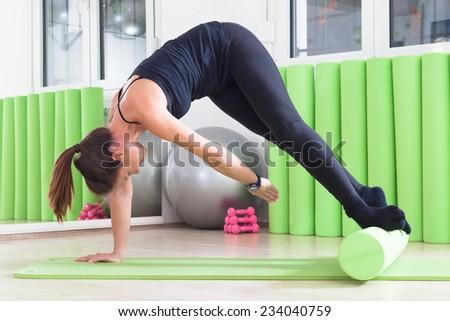 pilates class - stock photo