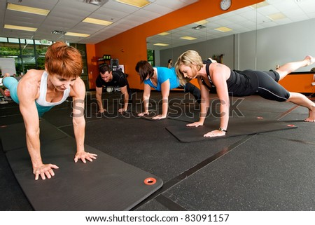 Pilates Class at a gym - stock photo
