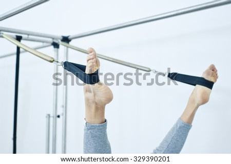 Pilates fitness - stock photo