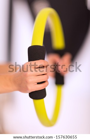 Pilates ring closeup - stock photo