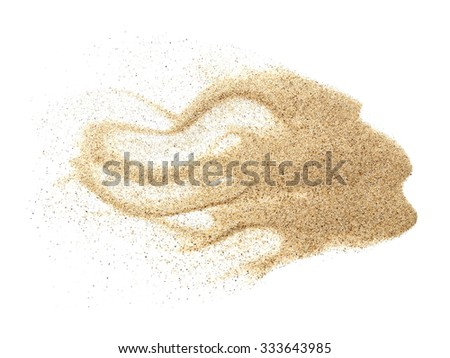 pile desert sand isolated on white background - stock photo