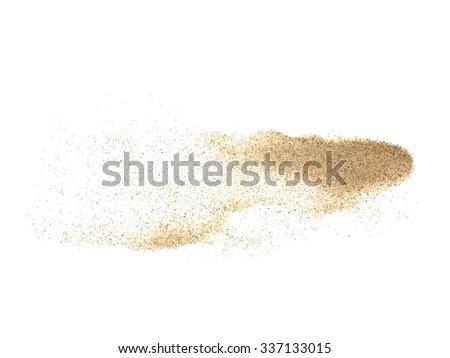 pile desert sand isolated on white background - stock photo