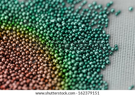 Pile multicolored of bead suitable for Background and texture - stock photo
