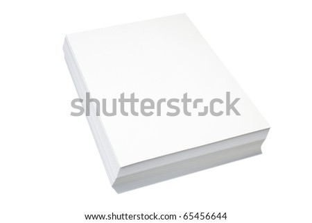 Pile of a writing pure paper it is isolated on a white background