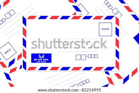Pile of air mail envelope