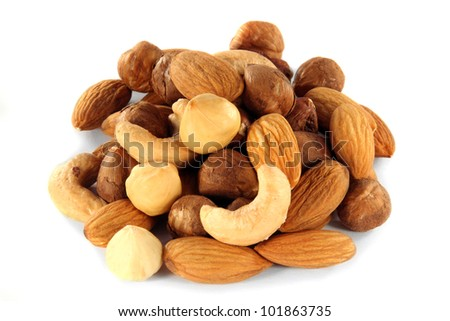 Pile of Assorted Nuts - stock photo