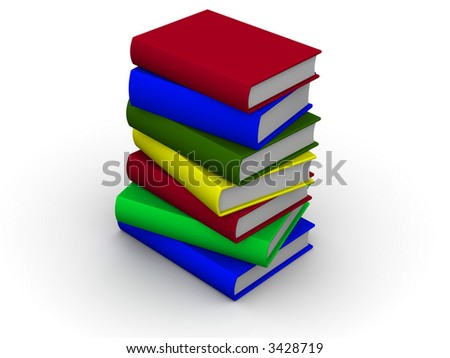 Pile of books. 3d