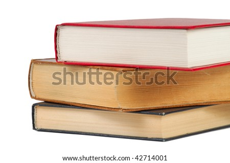 Pile of books. Isolated on a white.