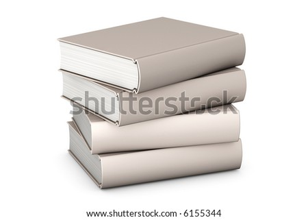 Pile of books isolated over a white background. - stock photo