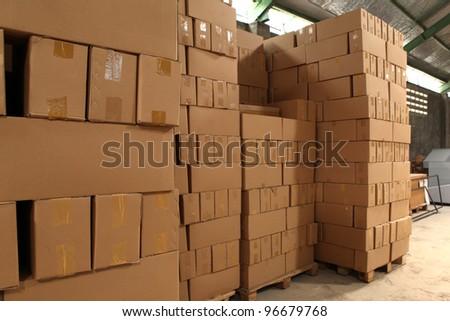 pile of box - stock photo