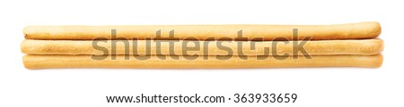 Pile of bread sticks isolated - stock photo