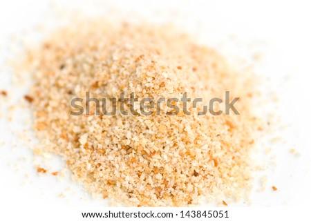 Pile of breadcrumbs - stock photo