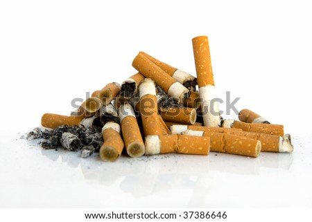 Pile of butts - stock photo
