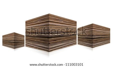 Pile of Cardboard isolated on white