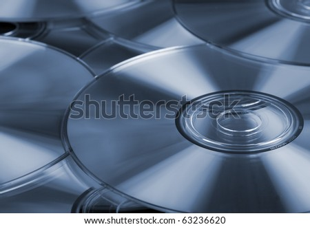 Pile of CD's or DVD's - stock photo