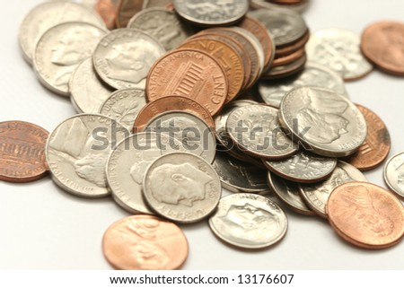 pile of change - stock photo