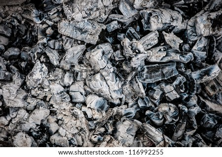 Pile of charcoal lumps - stock photo
