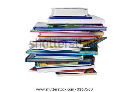 Pile of child books - stock photo