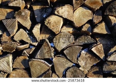Pile of chopped fire-wood