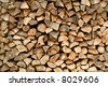 Pile of chopped firewood - stock photo