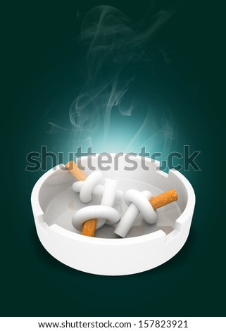 Pile of cigarette butts - stock photo