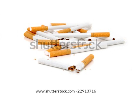 pile of cigarettes