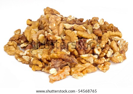 Pile of cleaned walnuts