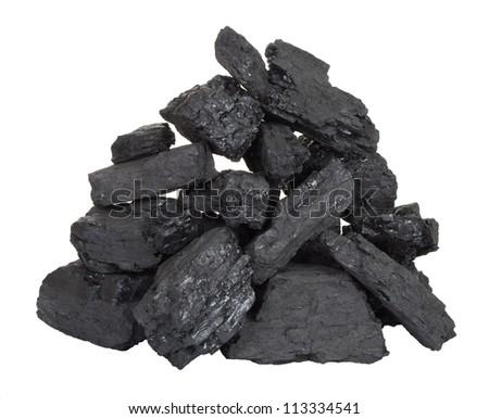 Pile of coal - stock photo