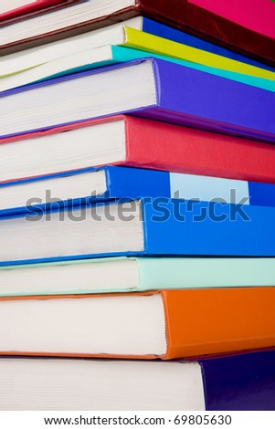 pile of colorful books as background