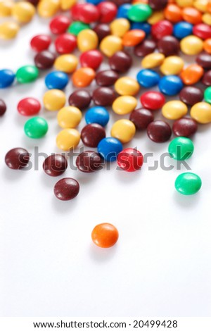 Pile of colorful candy - stock photo