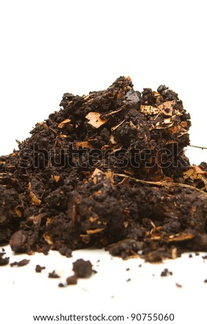 Pile of compost - stock photo