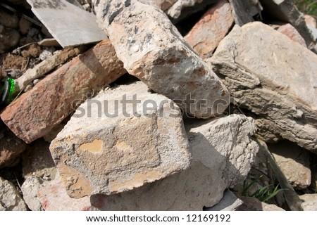 Pile of debris - stock photo