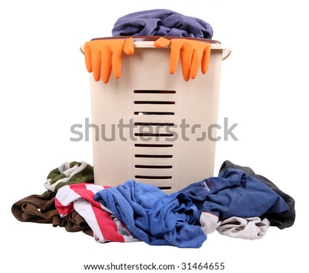pile of dirty laundry - stock photo