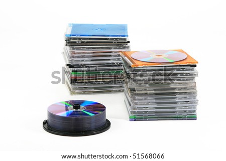 Pile of disks - stock photo