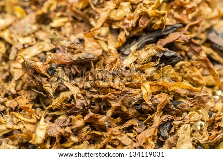 Pile Of Dried Pipe Tobacco - stock photo