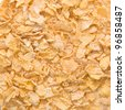 Pile of dry cornflakes. Background or texture - stock photo