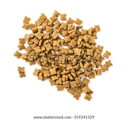 pelleted compound feed isolated on white stock photo