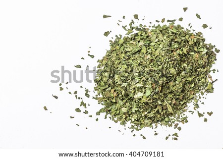 Pile of dry isolated coriander isolated on white background.