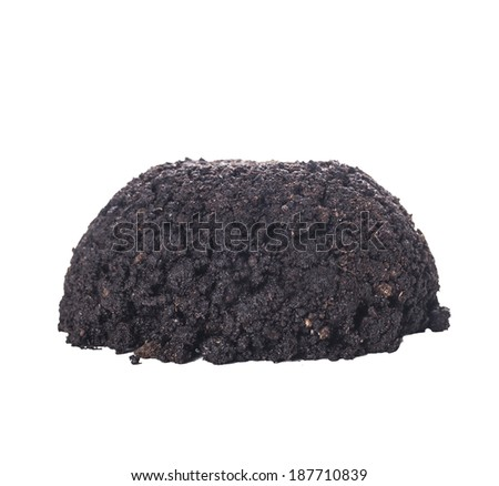 pile of  earth, isolated on white background - stock photo