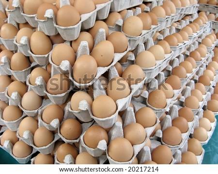 Pile of eggs - stock photo